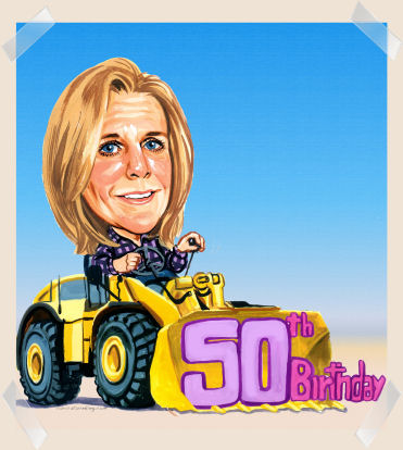 50th birthday caricature