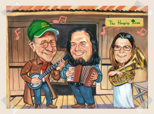 backwoods-band-caricature