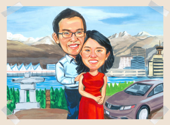couple-mountain-caricature