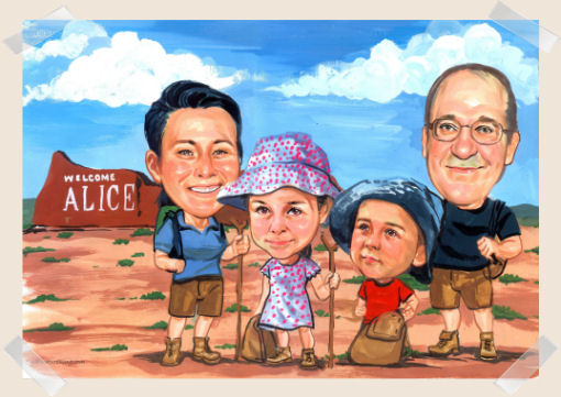 family-caricature