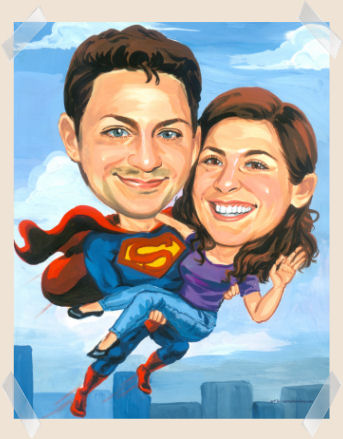 flying_superman_with_girl_caricature