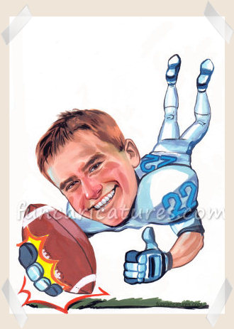 gridiron player caricature